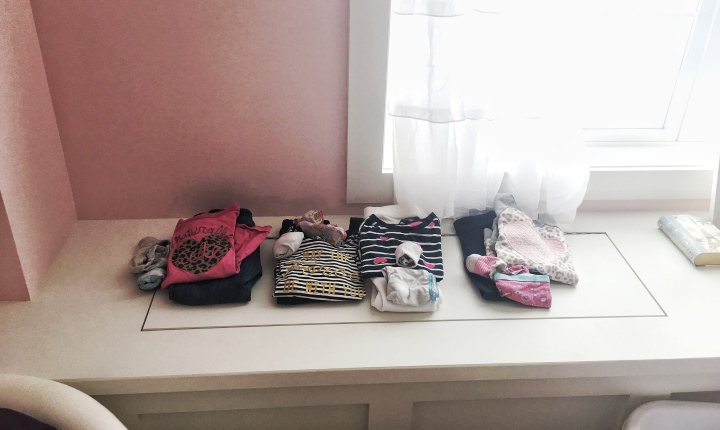 kids clothes organized