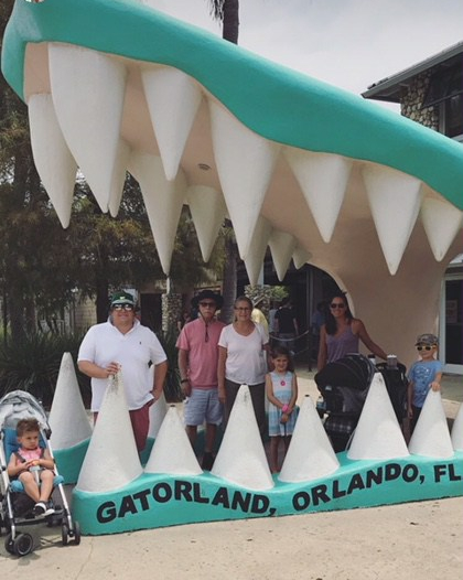 family vacation gatorland - travel with babies
